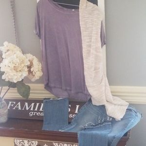 EUC 3 piece Jean's and short sleeve top outfit